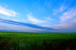 Blauwe zonsondergang royalty-vrije stock foto's