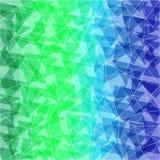 Blauwgroene abstracte veelhoekige achtergrond. Kan voor wallpa worden gebruikt Royalty-vrije Stock Foto's