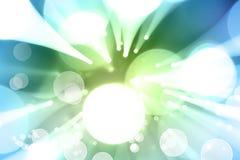 Blauwgroene explosie Royalty-vrije Stock Afbeeldingen