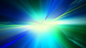 Blauwgroene glanzende lichte abstracte achtergrond Royalty-vrije Stock Foto's