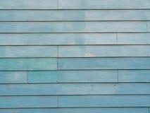 Blauwgroene houten muur Royalty-vrije Stock Afbeeldingen