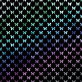 Blauwgroene Purpere Vlinderspolka Dot Metallic Faux Foil Butterfly royalty-vrije illustratie