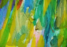 Blauwgroene roze modderige vlekken, de creatieve achtergrond van de verfwaterverf Stock Fotografie