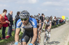 Blaz Jarc- Paris Roubaix 2014 Foto de Stock Royalty Free