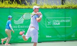 Blaz Kavcic of Slovenia in the  finals of Wind Energy Holding Bangkok Open 2016 Stock Image