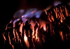 Blaze. Long-lasting energy, but not so hot fuel - pressed peat Royalty Free Stock Photo