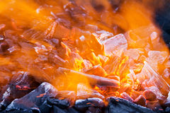 Blaze closeup. Closeup of blaze with sparks and fire Royalty Free Stock Image