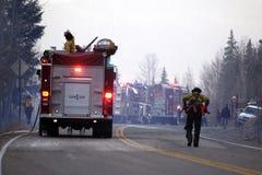 blaze fighting Στοκ φωτογραφίες με δικαίωμα ελεύθερης χρήσης