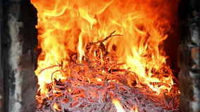 Blaze of fire stock footage