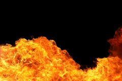 Blaze of fire flame background Stock Images
