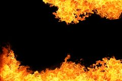 Blaze of fire flame background Stock Photography