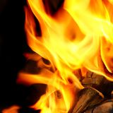 Blaze Fire Flame Background. Blaze Charcoal Fire Flame Background or Texture Royalty Free Stock Photo