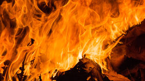 Blaze fire flame background Stock Photography