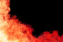 Blaze fire flame with copy space Stock Photography