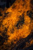 Blaze fire flame texture background Royalty Free Stock Photography