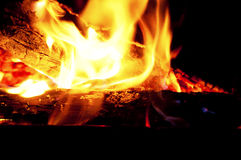 Blaze fire flame texture background Royalty Free Stock Image