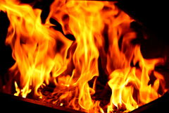 Blaze fire flame texture background Stock Photos