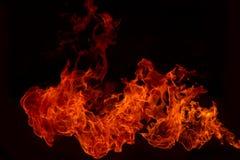 Blaze Fire flammt Hintergrund Stockfoto