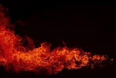 Blaze Fire flammt Hintergrund Stockfotografie