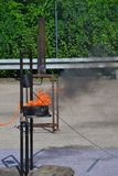 Blaze Fire flammt Hintergrund Stockbild