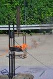 Blaze Fire flammt Hintergrund Lizenzfreies Stockbild