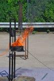 Blaze Fire flammt Hintergrund Stockfotos