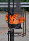 Blaze Fire-vlammenachtergrond Royalty-vrije Stock Fotografie