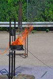 Blaze Fire-vlammenachtergrond Stock Foto's