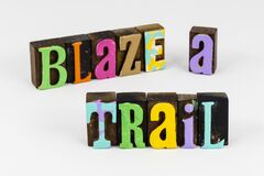 Blaze mark nature trail hike healthy outdoor physical fitness
