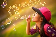Blazen zeepbels Stock Fotografie