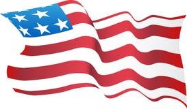 Blazende Amerikaanse Vlag Royalty-vrije Stock Afbeelding