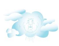 Blazende Wind royalty-vrije illustratie