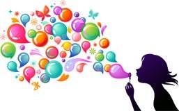 Blazende zeepbels - 2 royalty-vrije illustratie