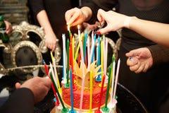 Blazing Amazing Birthday Candles. Happy Birthday. Stock Image