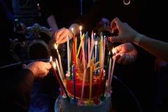 Blazing Amazing Birthday Candles. Happy Birthday. Stock Images