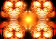Blazing background. Bright and showy Royalty Free Stock Photography