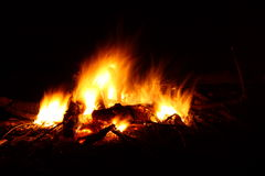 Blazing Bonfire Royalty Free Stock Images
