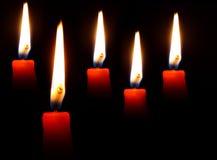 Blazing candles Stock Image
