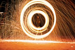 Blazing circles Royalty Free Stock Image