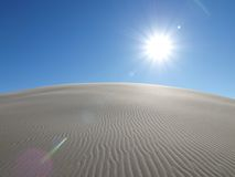 Blazing Desert. Blazing sun at dumont dunes in the mojave desert Stock Image