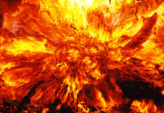 Blazing fire. The bright funeral blazing fire royalty free stock photos