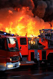 Blazing fire in city. Awesome blazing fire in city Stock Image