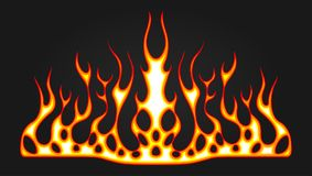 Blazing fire decals for the hood of the car. Hot Rod Racing Flames. Vinyl ready tribal flames. Vehicle and motorbike stickers, wit. H burning effect Stock Images