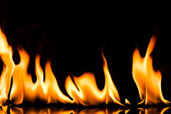Blazing Fire flame Stock Image