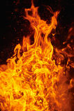Blazing fire Stock Photography