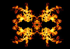 Blazing fire shape Royalty Free Stock Photography
