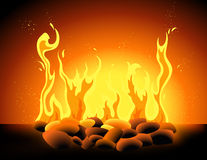 Blazing flame Stock Photo