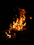 Blazing flame Stock Photography