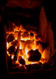 Blazing furnace at the blacksmith's Royalty Free Stock Photo