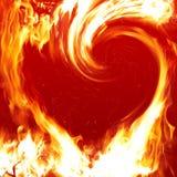 Blazing heart. Burning background Royalty Free Stock Photo